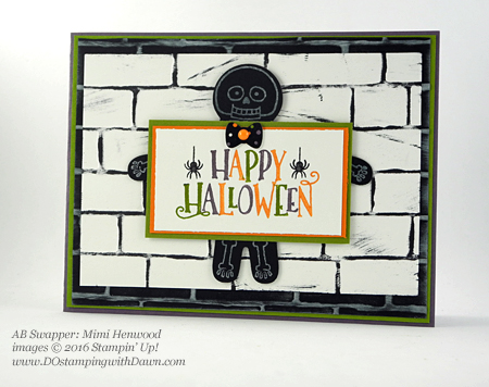 8 Spooky Stampin' Up! Halloween swap cards shared by Dawn Olchefske #dostamping (Mimi Henwood)