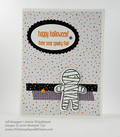 8 Spooky Stampin' Up! Halloween swap cards shared by Dawn Olchefske #dostamping (Janice Weightman)