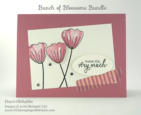 Stampin' Up! Bunch of Blossoms Bundle card by Dawn Olchefske #dostamping