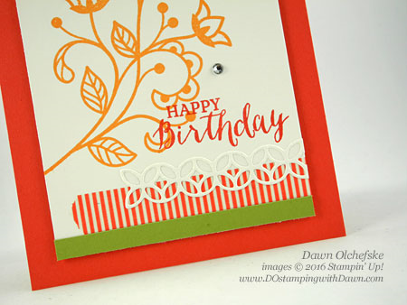 Stampin' Up! Flourishing Phrases Bundle card created by Dawn Olchefske #dostamping