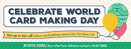 World Card Making Day Stampin' Up! special 10/1-5/2016 #dostamping