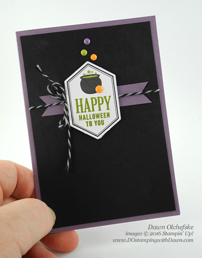 Stampin' Up! Something Good To Eat Paper Pumpkin Halloween card created by Dawn Olchefske for DOstamperSTARS Thursday Challenge #DSC201 #dostamping
