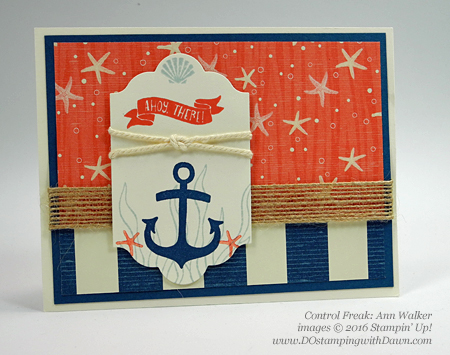 Stampin' Up! By The Shore swap cards shared by Dawn Olchefske #dostamping (Ann Walker)