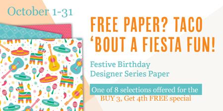 Stampin' Up! Designer Series Paper Sale, Buy 3 Get 1 Free #dostamping