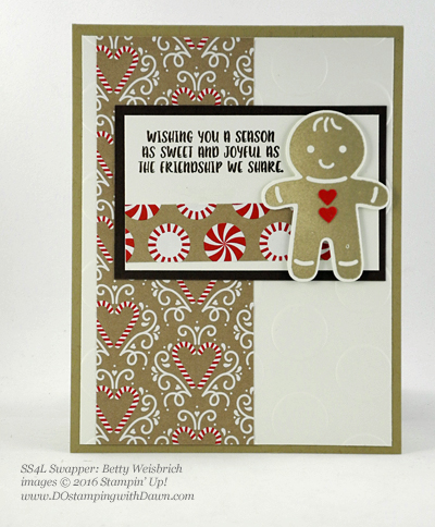 Stampn' Up! Candy Cane Lane swap cards shared by Dawn Olchefske #dostamping #stampinup (Betty Weisbrich)