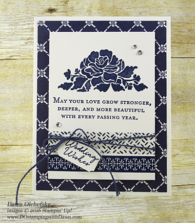 Floral Phrases & Floral Boutique DSP card created by Dawn Olchefske for DOstamperSTARS Thursday Challenge #DSC183 #dostamping #stampinup