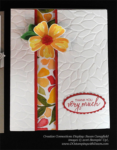 Stampin' Up! Fruit Stand swap cards shared by Dawn Olchefske #dostamping #stampinup (Susan Campfield)