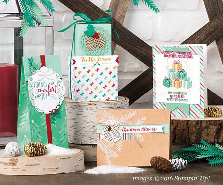 Stampin' Up! Presents & Pinecones Designers Series Paper #dostamping