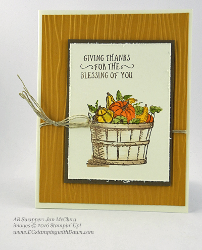 Stampin' Up! Fall-Themed swap cards shared by Dawn Olchefske #dostamping #stampinup (Jan McClurg)