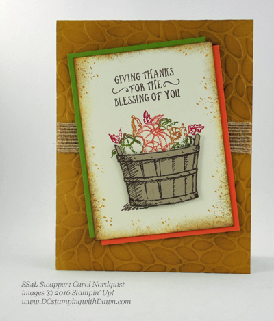 Stampin' Up! Fall-Themed swap cards shared by Dawn Olchefske #dostamping #stampinup (Carol Nordquist)