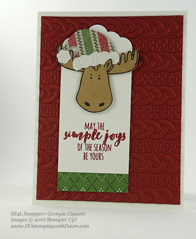 Stampin' Up! Jolly Friends swap cards shared by Dawn Olchefske #dostamping #stampinup (Georgia Giguere)