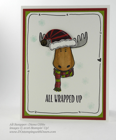 Stampin' Up! Jolly Friends swap cards shared by Dawn Olchefske #dostamping #stampinup (Diana Gibbs)
