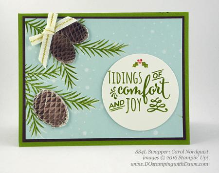 Stampin' Up! Christmas Pines Bundle swap cards shared by Dawn Olchefske #dostamping #stampinup (Carol Nordquist)