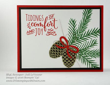 Stampin' Up! Christmas Pines Bundle swap cards shared by Dawn Olchefske #dostamping #stampinup (Jodi LeVesseur)