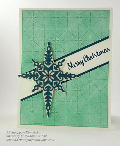 Stampin' Up! Star of Light bundle swap cards shared by Dawn Olchefske #dostamping #stampinup (Kim Peck)