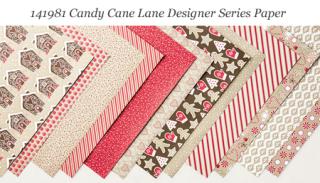 Stampin' Up! Candy Cane Lane Designer Series Paper #dostamping