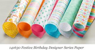Stampin'  Up! Festive Birthday Designer Series Paper #dostamping