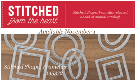 Stampin' Up! Stitched Shaped Framelits available 11/1/16 #dostamping