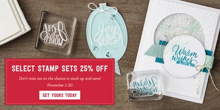 Stampin' Up! November 25% off Stamp Sale #dostamping