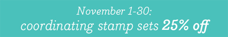 Stampin' Up! November 25% off Stamp Sale #dostamping