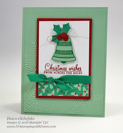 Holly Berry Punch card created by Dawn Olchefske #dostamping