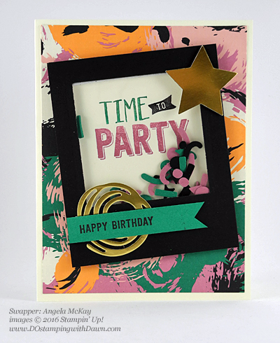 Confetti Celebration with Playful Palette DSP swap cards shared by Dawn Olchefske #dostamping #stampinup (Angela McKay)