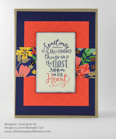 Affectionately Yours Swap card shared by Dawn Olchefske #dostamping (Genevieve Ko)