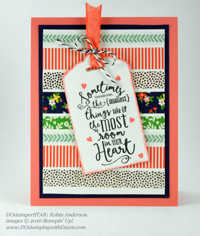 Affectionately Yours Swap card shared by Dawn Olchefske #dostamping (Robin Anderson)