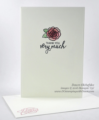 Stampin' Up! Better Together Bunch of Blossoms Thank Cards created by Dawn Olchefske for Wedding Shower #dostamping