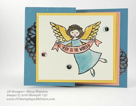 Wonder of Christmas swap card shared by Dawn Olchefske #dostamping (Missy Shipman)