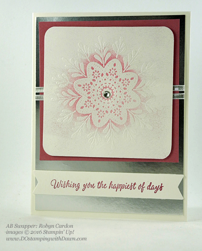 Frosted Medallion swap card shared by Dawn Olchefske #dostamping (Robyn Cardon)