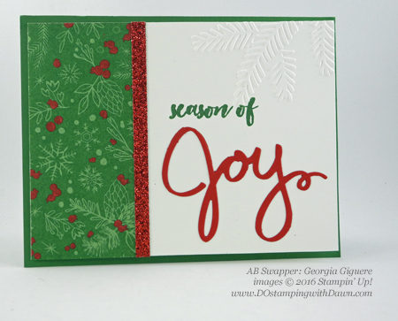 Christmas Pines swap card shared by Dawn Olchefske #dostamping (Georgia Giguere)