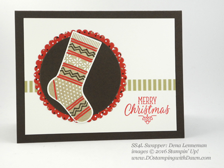 Hang Your Stocking Bundle swap card shared by Dawn Olchefske #dostamping (Dena Lenneman)
