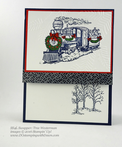 Christmas Magic swap card shared by Dawn Olchefske #dostamping (Tree Westerman)