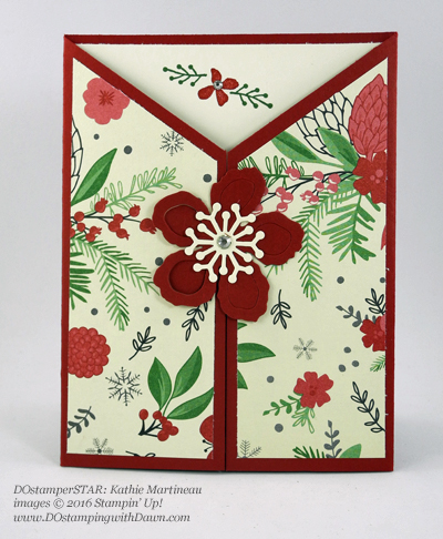 Botanical Builder Framelits card shared by Dawn Olchefske #dostamping (Kathie Martineau)