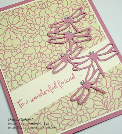 Stampin' Up! Dragonfly Dreams Bundle card by Dawn Olchefske for DOstamperSTARS Thursday Challenge #DSC211 #dostamping