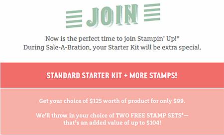 Stampin' Up!  Sale-a-Bration Join the DOstamperSTARS #dostamping