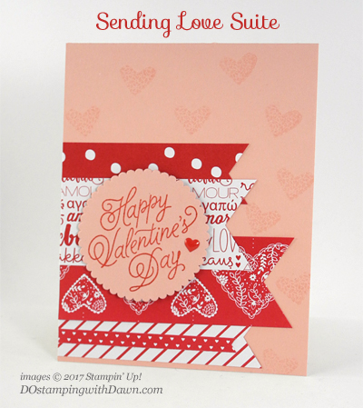 Stampin' Up! Sending Love Suite card shared by Dawn Olchefske #dostamping