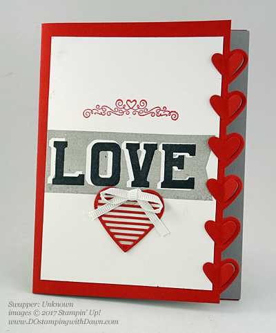 Valentine Swap card shared by Dawn Olchefske #dostamping (Unknown)