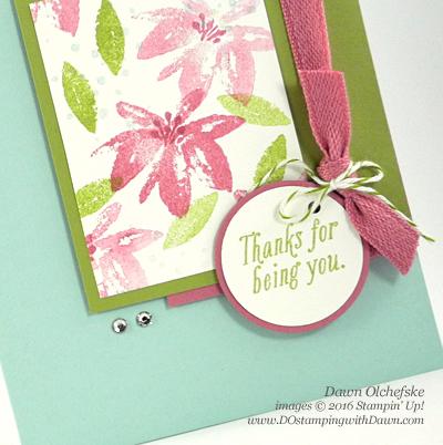 Stampin' Up! Sale-a-Bration Avant Garden card by Dawn Olchefske #dostamping