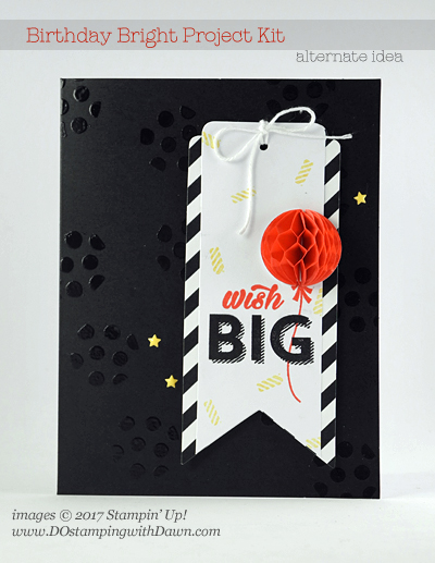 Stampin' Up! Birthday Bright Project Kit Alternative idea shared by Dawn Olchefske