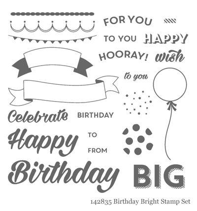 Stampin' Up! Birthday Bright Stamp Set shared by Dawn Olchefske #dostamping