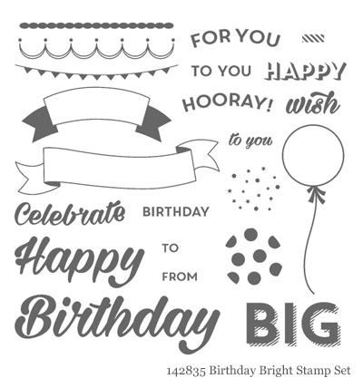 Stampin' Up! Birthday Bright Stamp Setshared by Dawn Olchefske #dostamping