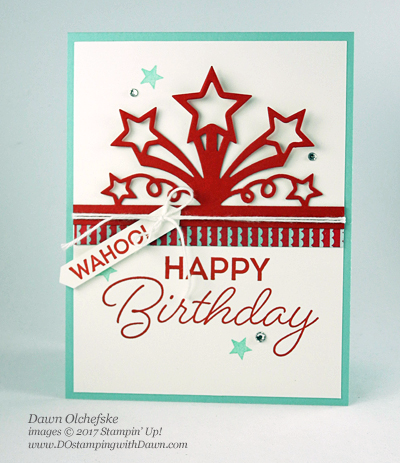 Stampin' Up! Birthday Blast Bundle card created by Dawn Olchefske for DOstamperSTARS Thursday Challenge #DSC216 #dostamping