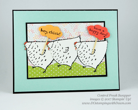 Stampin' Up! Sale-A-Bration Inspiration swap cards shared by Dawn Olchefske #dostamping (Control Freak)