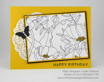 Stampin' Up! Sale-A-Bration Inspiration swap cards shared by Dawn Olchefske #dostamping (Anita Dickson)