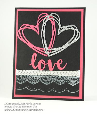 Stampin' Up! DOstamper STARS SAB Inspirationswap cards shared by Dawn Olchefske #dostamping(Karla Larson)