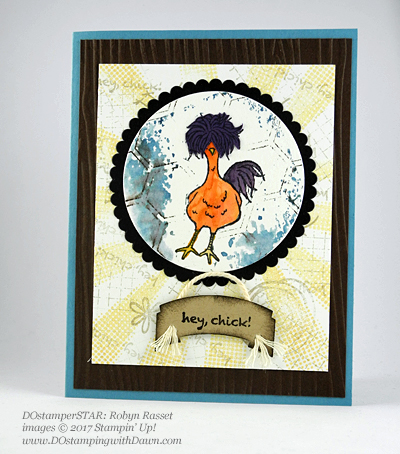 Stampin' Up! DOstamper STARS SAB Inspirationswap cards shared by Dawn Olchefske #dostamping(Robyn Rasset)