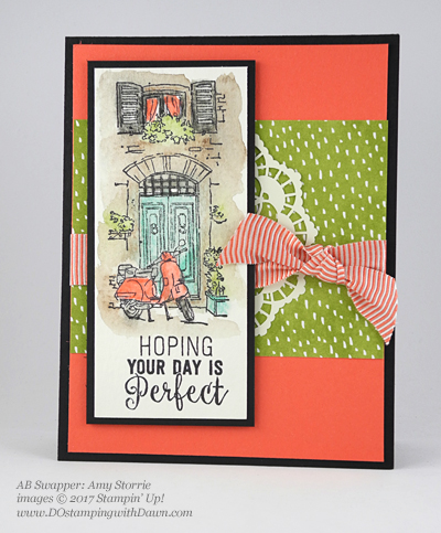 Stampin' Up! Watercolor Pencils swaps shared by Dawn Olchefske #dostamping (Amy Storrie)