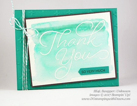 Stampin' Up! Watercolor Pencils swaps shared by Dawn Olchefske #dostamping (Unknown)